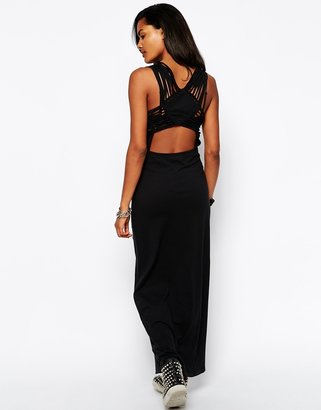 Diesel Open Back Maxi Dress