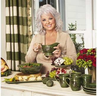 Paula Deen 10-in. Southern Pine Round Serving Bowl, Green