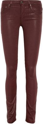 Helmut Lang HELMUT Coated mid-rise skinny jeans