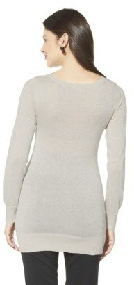 Merona Maternity Long-Sleeve Lurex Pullover Sweater - Assorted Colors