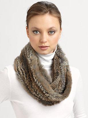 Adrienne Landau Rabbit Knit Infinity Scarf