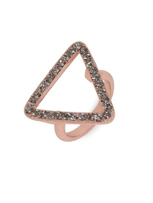 BaubleBar Rose Open Triad Ring