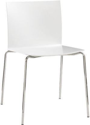 CB2 Slim White Chair