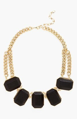 Nordstrom 'Safari' Wood Block Frontal Necklace