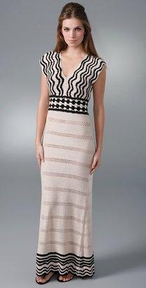 Twelfth St. By Cynthia Vincent V Neck Long Dress