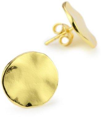 "Gorjana Chloe"" Gold-Tone Large Irregular Disc Stud Earrings"