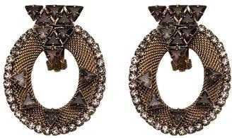 Nicole Romano Mesh oval earring