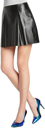 BCBGeneration Pleated Faux-Leather Skirt