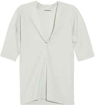 Jil Sander Akido pleated cotton top