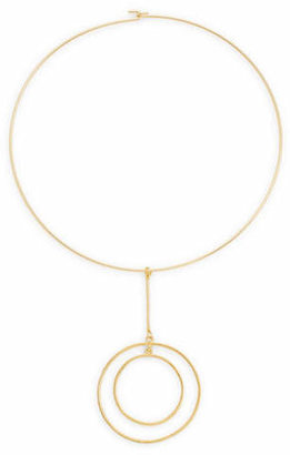 Kenneth Jay Lane Drop Double-Circle Choker Necklace
