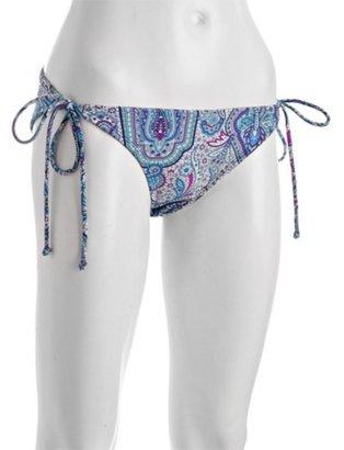 Shoshanna purple paisley string bikini bottom