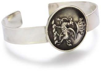"Pyrrha Wax Seals"" Sterling Silver Gryphon and Crown Livery Cuff Bracelet"