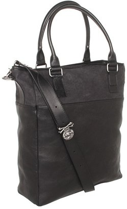 John Varvatos Bowery Skull Collection Tote (Black) - Bags and Luggage