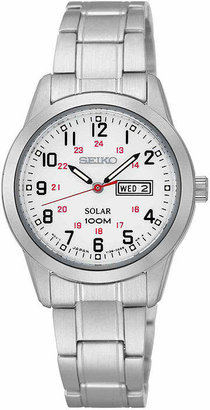Seiko Womens Silver-Tone Solar Dress Watch SUT167