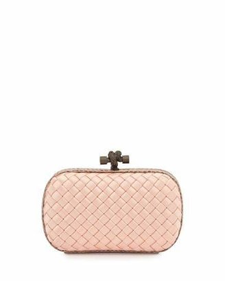 Bottega Veneta Woven Satin Knot Minaudiere, Pink $1,580 thestylecure.com