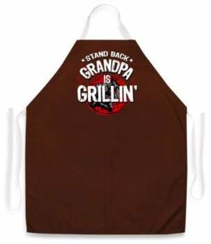 Bed Bath & Beyond Stand Back Grandpa Is Grill in ' Apron