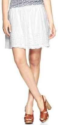 Gap Eyelet trim skirt