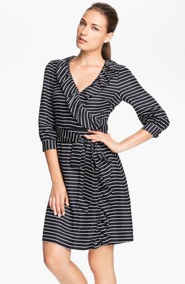 Kate Spade 'daniella' Stripe Silk Wrap Dress