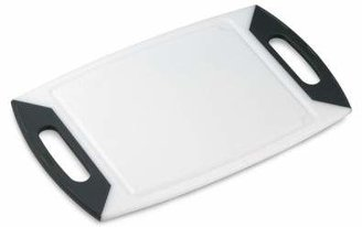 Oneida Colourgrip® Charcoal Handle 20-Inch Cutting Board in White
