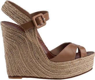 Valentino St. Tropez Wedge Espadrille Natural Leather