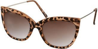 Asos Tort Ridge Detail Cat Eye Sunglasses