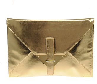 Asos Metallic Portfolio Clutch