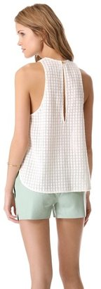 Porter Grey Embroidered Tank