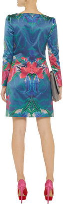Temperley London Lotus stretch cotton and silk-blend shift dress