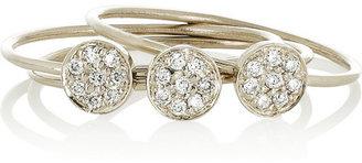 Jennifer Meyer Set of three 18-karat white gold diamond stacking rings