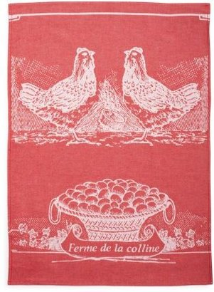 "Sur La Table French Chickens Kitchen Towel, 26"" L x 19"""