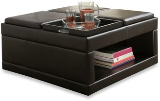 Verona Home Cocktail Ottoman Table with Flip Tray