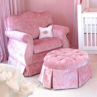 Aspen Custom Pink Velvet Regency Glider