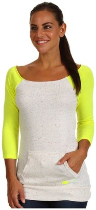 Skechers Flashdance Tunic (Natural/Acid Yellow) - Apparel