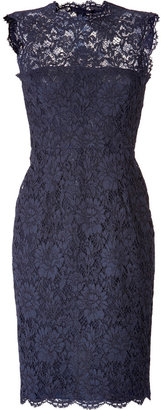 Valentino Lace Overlay Sheath Dress