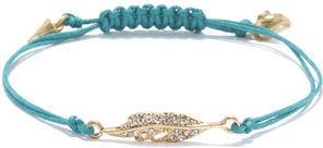Rachel Roy Pave Feather Charm Bracelet