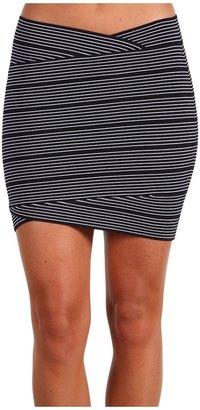BCBGMAXAZRIA Thin Stripe Envelope Skirt Women's Skirt