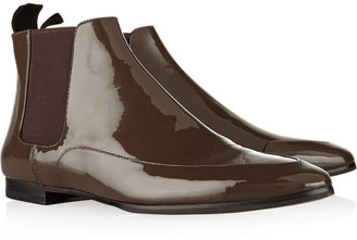 Jil Sander Patent-leather Chelsea boots