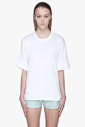 Hakaan White slash back Fennel T-Shirt