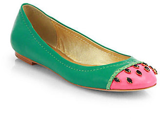 Kate Spade Watermelon Embellished Ballet Flats