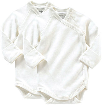 giggle Better Basics Long-Sleeve Baby Body - Set of 2 (Organic Cotton)