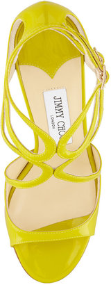 Jimmy Choo Ivette Patent Strappy Sandal, Citrine
