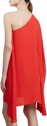 BCBGMAXAZRIA Sweeping One-Shoulder Dress
