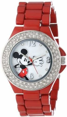 Disney Women's MK2071 Mickey Mouse Enamel Bracelet Watch