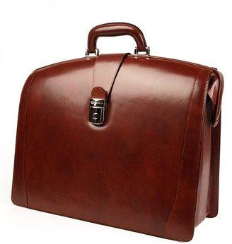 Bosca Triple Compartment Leather Briefcase