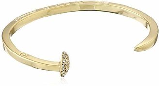 "Giles & Brother Gold-Tone Skinny Railroad Spike Cuff Bracelet, 4.25"" $95 thestylecure.com"
