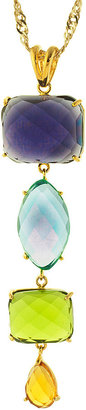 JCPenney FINE JEWELRY ATHRA Multicolor Stone Linear Drop Pendant Necklace