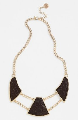 Carbon Copy Alligator Embossed Collar Necklace