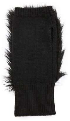 Club Monaco Lena Faux Fur Cashmere Gloves