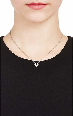 Cathy Waterman Women's Scalloped Heart Pendant Necklace