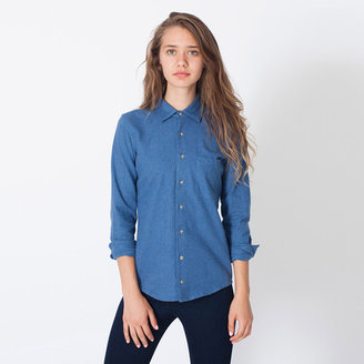 American Apparel Flannel Button Up Shirt Lake